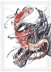 Diğer - Görkem Demir Limited Edition Holo Sketch Card #2 Venomized Spider-Man