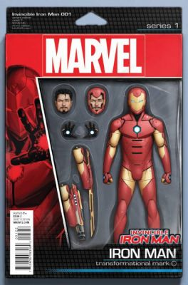 Invincible Iron Man # 1 (2015) Action Figure Variant