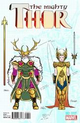 Marvel - Mighty Thor # 2 Dauterman Design Variant