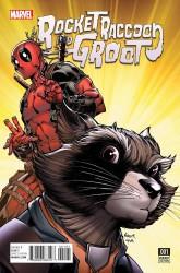 Marvel - Rocket Raccoon and Groot # 1 Nauck Deadpool Variant