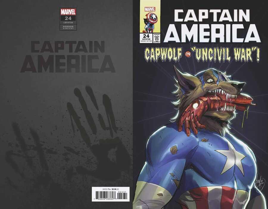 Marvel - Captain America (2018) # 24 ANDOLFO CAP WOLF HORROR VAR
