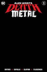 DC - Dark Nights Death Metal # 1 Black Blank