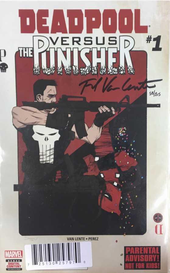 Dynamic Forces - DF Deadpool vs Punisher # 1 Fred Van Lente İmzalı Sertifikalı