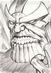 Diğer - Görkem Demir Limited Edition Holo Sketch Card #24 Thanos