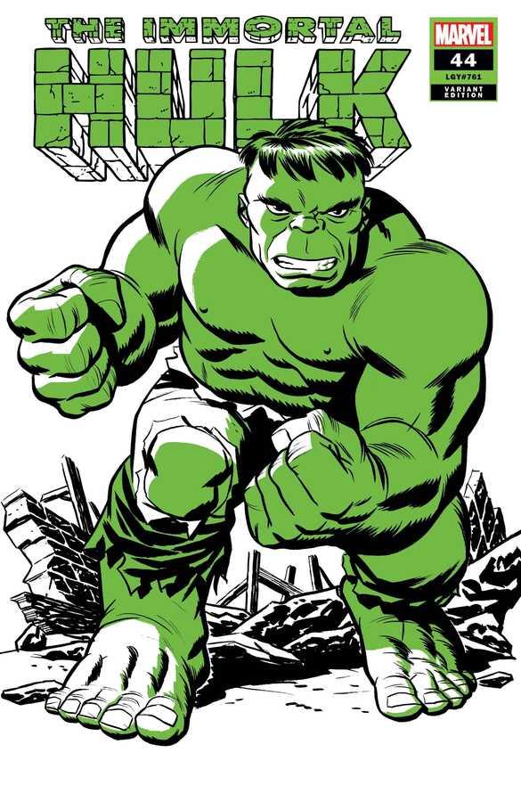Marvel - IMMORTAL HULK # 44 MICHAEL CHO HULK TWO-TONE VAR