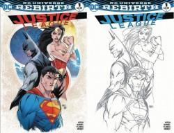 DC - Justice League # 1 Aspen Retailer Variant Regular Ve B&W Set