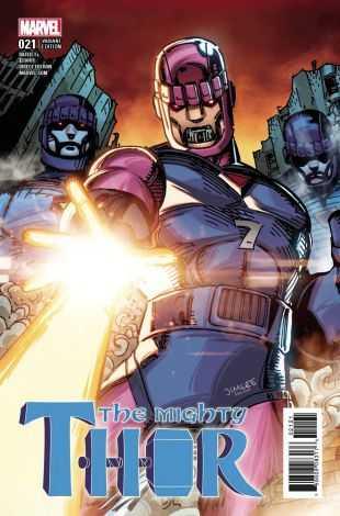 Marvel - Mighty Thor # 21 Jim Lee X-Men Card Variant