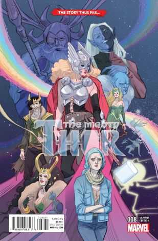 Marvel - Mighty Thor # 8 Sauvage Story Thus Far Variant