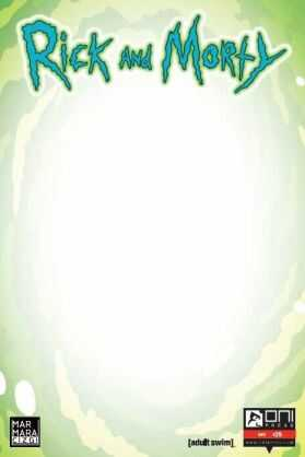 Marmara Çizgi - Rick and Morty Sayı 25 Boş Kapak