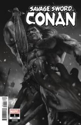 Marvel - Savage Sword Of Conan # 1 Rahzzah B & W Variant