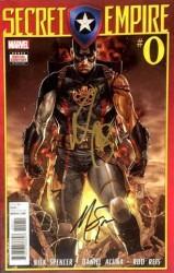 Marvel - Secret Empire # 0 Nick Spencer ve Mark Brooks İmzalı Sertifikalı