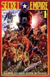 Marvel - Secret Empire # 1 Nick Spencer ve Mark Brooks İmzalı Sertfikalı