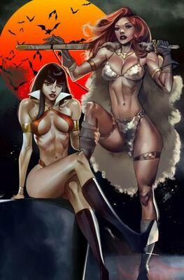 Vampirella Red Sonja # 10 Celor Paralel Evren Exclusive Virgin Variant